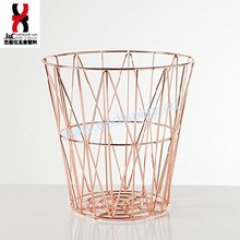 Rose Gold Hot Sale Laundry Metal Storage Wire Fruit Basket