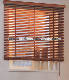 Wood slat window louver blinds