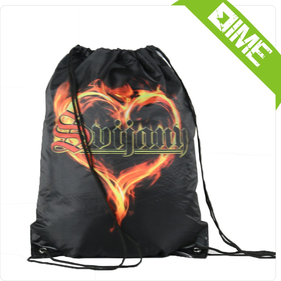 High Quality Promotion Drawstring Flame Of Love Bag
