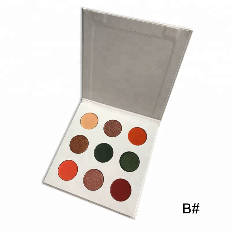 New Arrival Private Label 9 Color Eyeshadow Palette Highly Pigmented For Blue <strong>Eyes</strong>