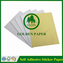 self adhesive sticker paper yellow release paper glossy art paper in roll