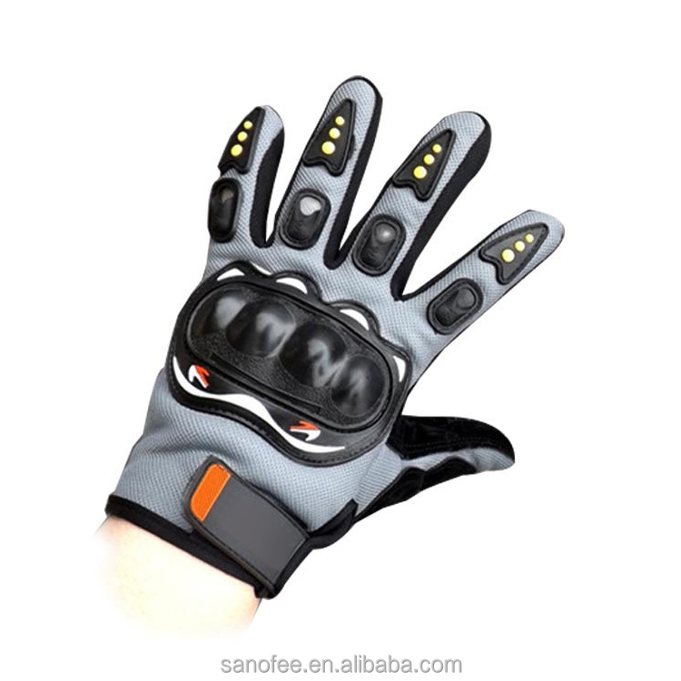 Sports Leather Motorcycle Motorbike Gloves