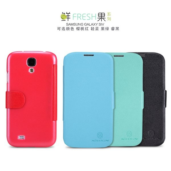 NILLKIN Fresh Series Sleep Wake-up Function Leather Skin For Samsung Galaxy S IV 4 i9500 i9505