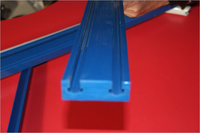 uhmwpe sliding conveyor guide rails/chain guide/uhmwpe plastic roller chain