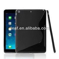 S line water proof soft TPU cover case for iPad air