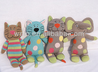 Very lovely knitted animal toys for kids