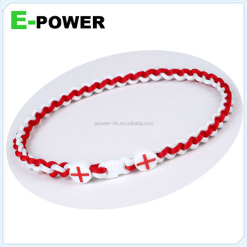2014 world cup souvenir jewellers flag necklace promotional ge-titanium sports energy necklace