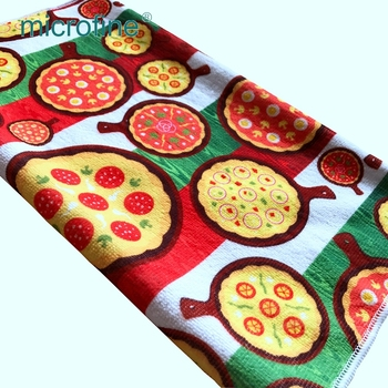 Import digital printed polyester microfiber knitting towel home textile fabric