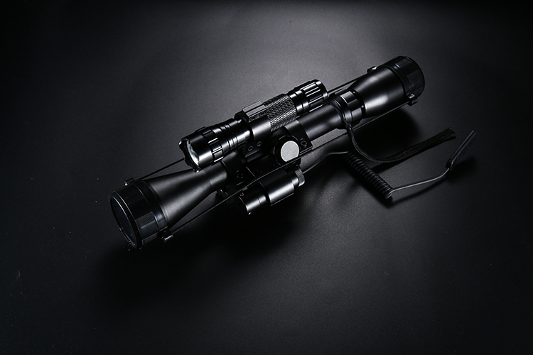 Outdoor hunting oem 3-9X40 laser rifle scope with crosshair reticle