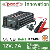 2014 Best Sale 12V 7A Electric Car Battery Charger For Lead Acid Batteries