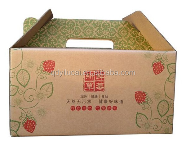 Custom Foldable Corrugated Carton Boxes for Fruits and Vegetables