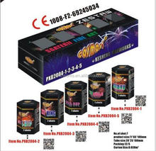 Consumer Fireworks 7 shots assortment cake CE marked 1.4G effects video
