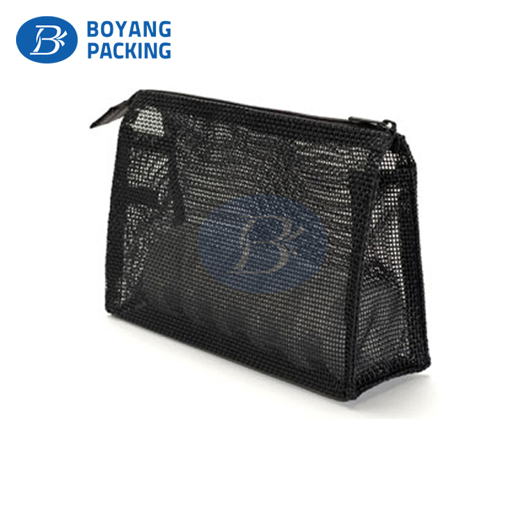 Fashion Cheap travel Nylon Cosmetic Mesh Storage Bags for women