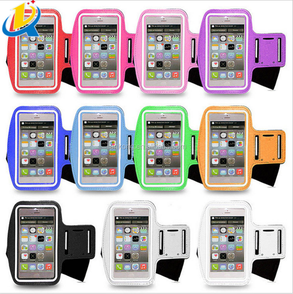Custom design high quality PU armband sport phone case