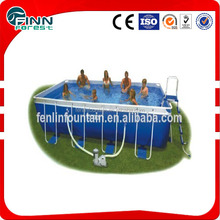 Mental frame inflatable pvc swimming pool
