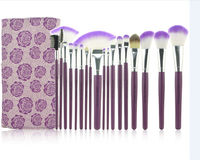 18pcs Synthetic Hair Professional Makeup Brush Set WIth Rose Flower Type Cosmetic Bag
