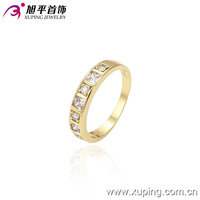 13492-xuping newest latest design gold simple diamond design rings