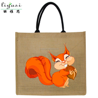 Waterproof Custom Logo Jute Tote Bag,Reusable Burlap Shopping Bags Manufacturer