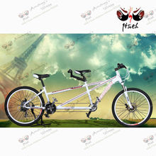 2014 best selling 27-speed romantic double seat tandem bike swift bike high-end double bike