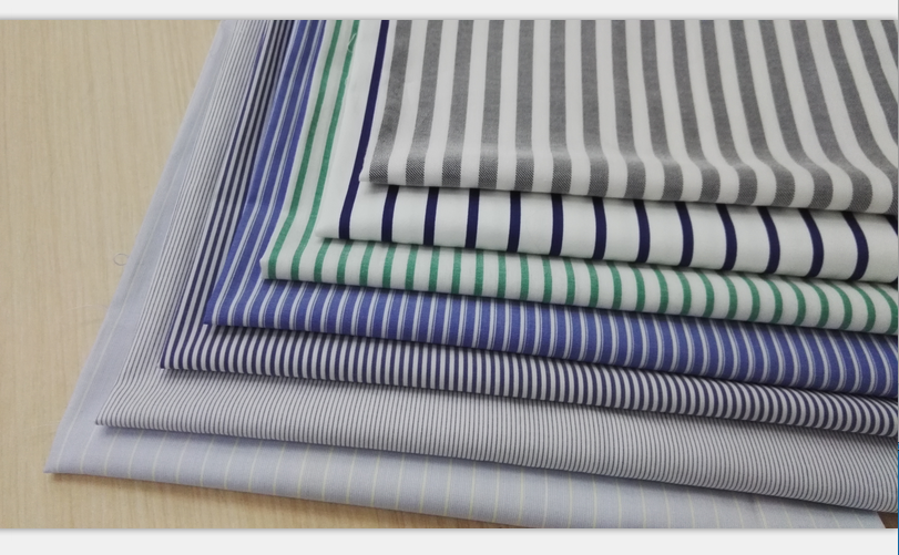 fashion shaoxing keqiao design 100% Cotton Poplin Yarn Dyed stripe for garment