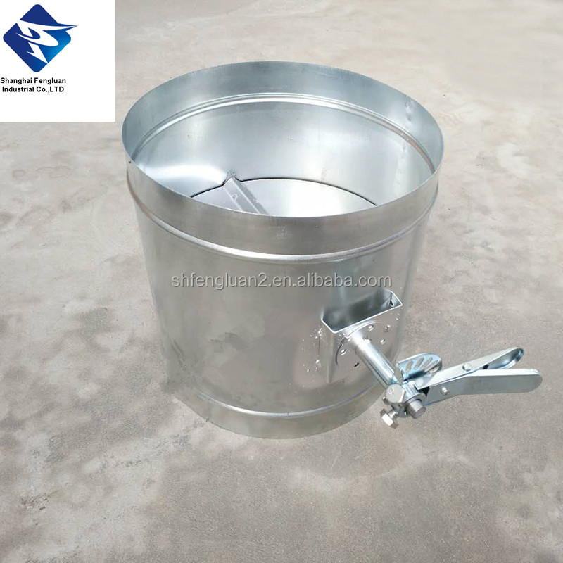 hand control manual round volume damper for ventilation