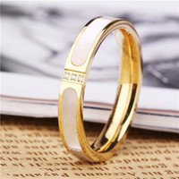 New fashion women finger rings charm Titanium steel rose gold plated rings for wedding simple design ring jewelry exquisite gift