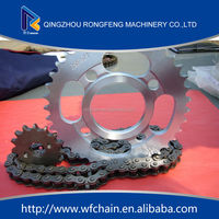 China Bajaj Motorcycle Spare Parts/chain and sprocket kits