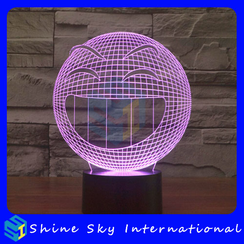 Factory customize big size 3D lights,colorful 3d night lamp,night light kids gifts