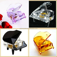 Wedding favors Artificial K9 crystal glass music box