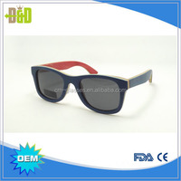 2016 OEM Factory Newest Wood Glasses 100% Nature Wholesale Handmade Custom Bamboo Eyewear Skateboard Wood Sunglasses