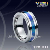 Tungsten Carbide Ring Inlay Opal, Opal Tungsten Ring