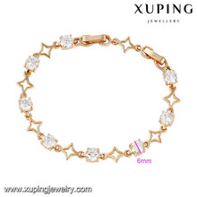 74495 xuping fashion simple gold bracelet design for girls