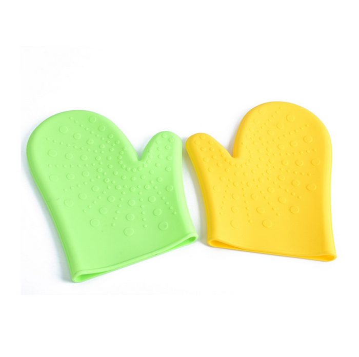 Hot insulation anti-skid silicone household glove Baking amazon christmas dice game oven mitt