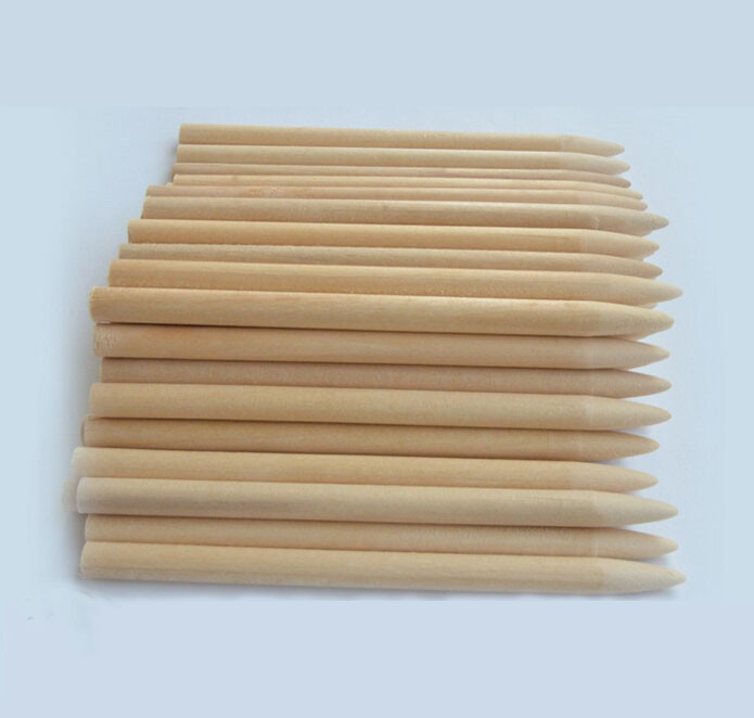 200*5mm Natural wood round sharp point sticks ,wood crafts birch wood sticks