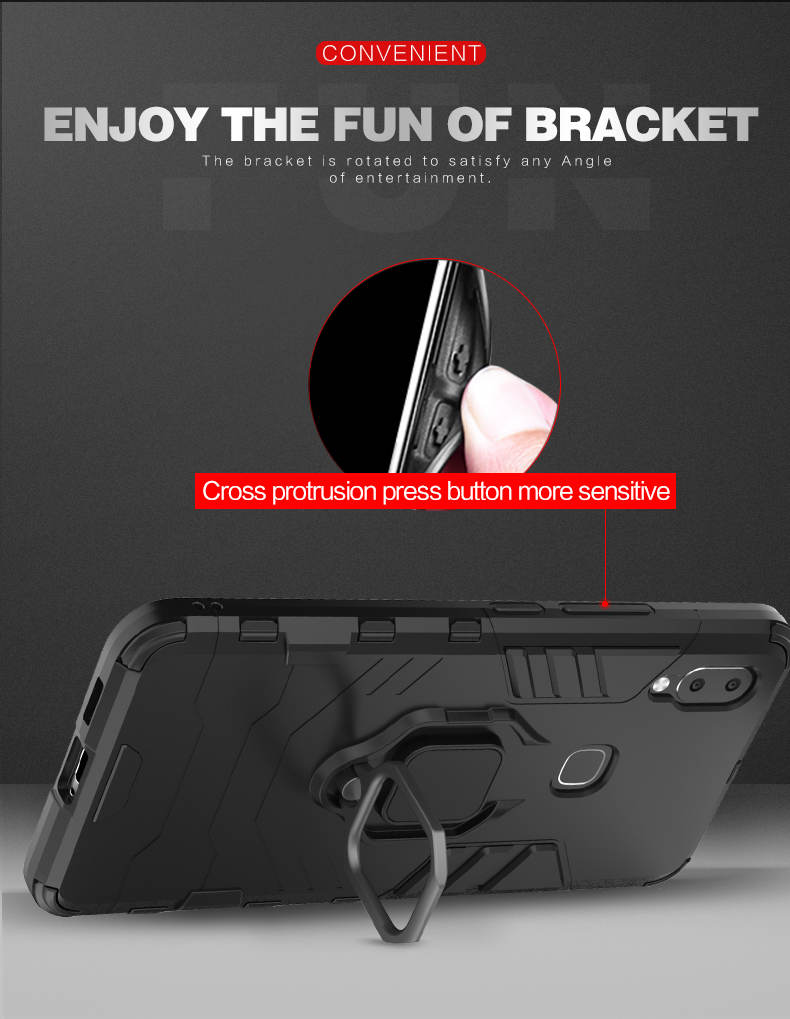 Magnetic Attraction TPU PC Finger Ring Holder mobile phone cover case for vivo nex a