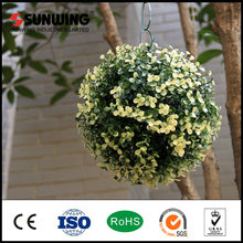 Decorations Plastic Boxwood Hanging Grass Hedge Ball