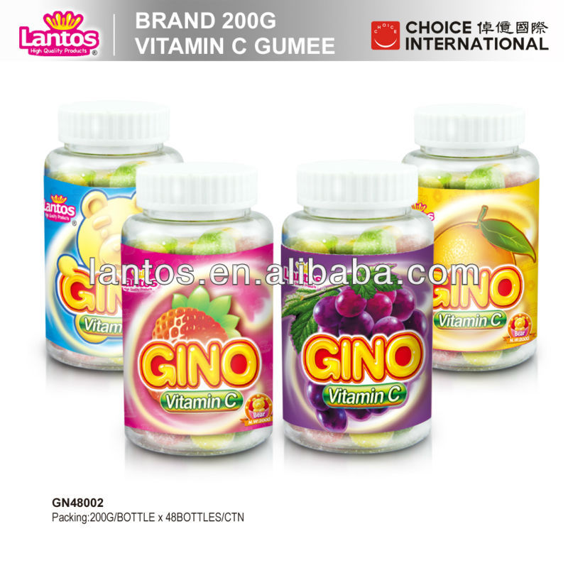 LANTOS 200g mixed fruit flavor Vitamine C gummy bear candy