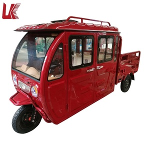 LIANKE 3 wheel electric motorcycle car with drive cabin/electric scooter enclosed with passenger seat/cargo tricycle for adults