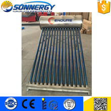 CE Certified Energy solar collector &amp solar water heater of 110L Capacity