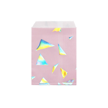Iridescent small Paper gift Bag Wedding Favor Party Favor Candy Printable Silverware Confetti Bags Paper Envelopes