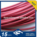 China Alibaba PVC Coated Colored 7x7 Stainless Steel Thin Wire Rope Assembly