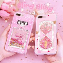 For iPhone 7 wholesale custom quicksand cellphone case mobile phone back cover glitter liquid blingbling phone case