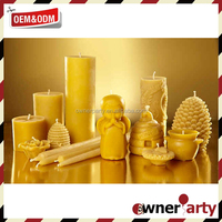 Customized Wholesale Eco Friendly 100 Beeswax Candles