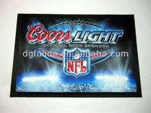 Coors Light Beer NFL Bar Mat NEW