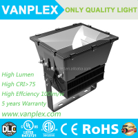 DLC ETL approved 1000 watt led flood light high bay light Stadium Lighting with 5 years warranty