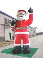 commercial inflatable Santa Claus, moving santa claus