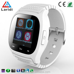 Cheap price touch screen smart watch bluetooth phone M26 with pedometer for android and ios