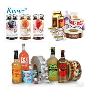 Kinmit Custom Printed Adhesive Waterproof & Oilproof Food Bottle Label