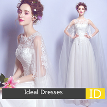 Ideal Dress L0901 Sexy perspective lace wedding dress