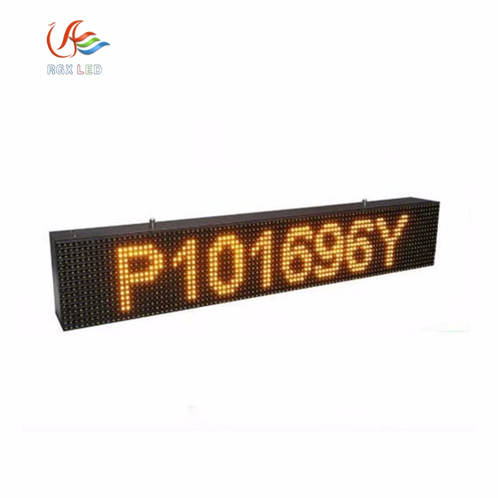 Three years warranty High Brightness <strong>P10</strong> Outdoor Single Yellow Color <strong>Led</strong> <strong>Display</strong> Module